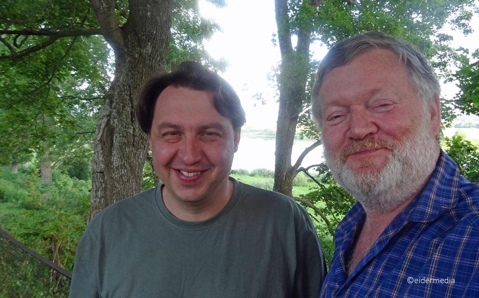 Selfi Pastor Mindaugas Kairys und whe an der Memel whe