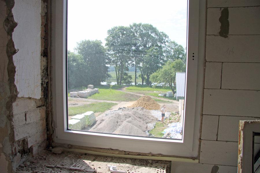 Blick durch Fenster whe